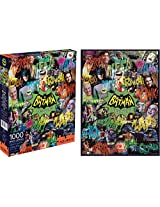 Aquarius Batman 66 Collage 1000 pc Puzzle (1000-Piece)