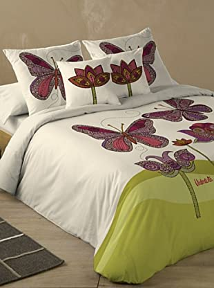 Valentina Juego de Funda Nórdica Butterfly (Beige)