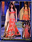 Bollywood priyanka chopra orange lehenga at mijwan charity show