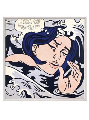 Lichtenstein - Drowning Girl, 1963, 8.25