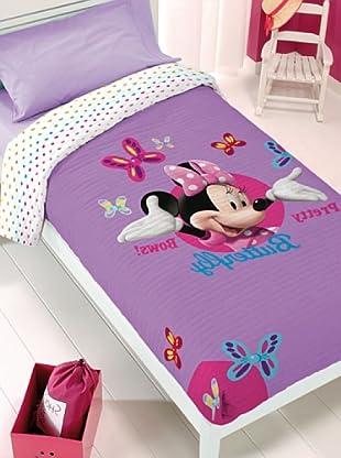Disney Home Copriletto Minnie (Viola Chiaro/Bianco)