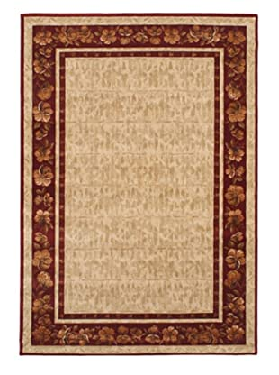 Chateau Versailles Rug, Cream/Dark Red, 5' 3