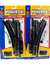 Ho Scale Life Like Power Loc Steel Alloy Track Left & Right Switches For Model Railroad Trains