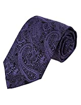 EAA1B02B Purple Popular Microfiber Evening Perfect Halloween Presents for Mens Purple paisley Neckties With Gift Box By Epoint