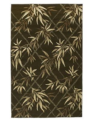 Momeni Veranda Collection Palm Rug (Green)