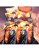 Harry Potter Movie Kids Cotton Double Bedsheet with 2 Pillow Covers