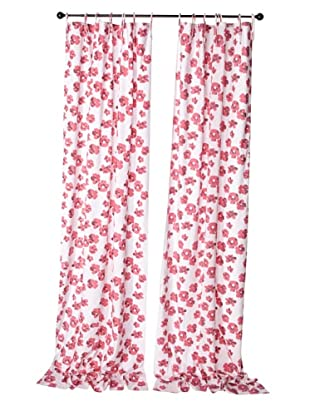 Kerry Cassill Set of 2 Printed Tie Panels (Pink Flower)