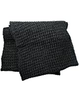 London Fog Men's Chunky Loop Scarf, Charcoal Heather, One Size