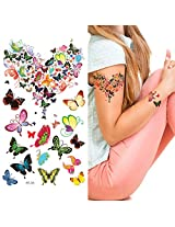 Supperb Temporary Tattoos - Butterflies Love Heart Tattoo