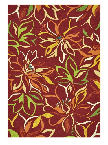 Loloi Rugs Sunshine Collection Indoor/Outdoor Rug (Crimson)