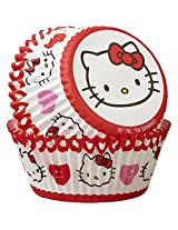Wilton 50 Count Hello Kitty Standard Baking Cups, Multicolor