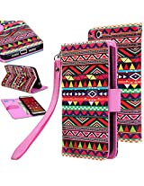 LeTv Le 1S Flip cover, E LV LeTv Le 1S Flip Folio Wallet Case Cover - Deluxe PU Leather Flip Wallet Case Cover for LeTv Le 1S - TRIBAL
