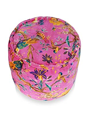 Modelli Creations Velvet Nature Pouf (Fuschia)
