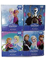 Disney Frozen 48 Piece Puzzle Assortment (4 Puzzle Set)