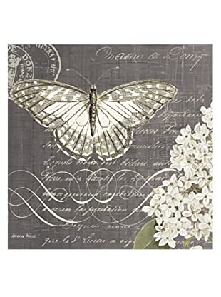 """Kathryn White Butterfly Blossom No. 2 Hand-Embellished Canvas, 20"""" x 20"""""""