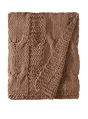 Amity Cable Knit Throw, Walnut, 50
