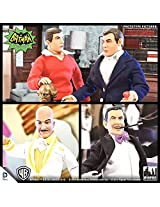 Batman Classic 1966 TV Series 2 Set of 4 Action Figures [Bruce Wayne Dick Grayson Egghead & The Penguin]