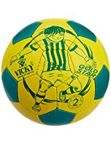 Vicky Gold Star Football, Size 1 (Yellow/green)