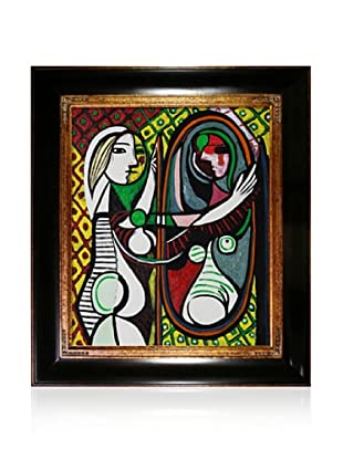 Pablo Picasso Girl Before a Mirror Framed Oil Painting, 20 x 24