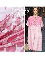 Spring cherry pink jacquard brocade fabrics imitation double Palace fashion fabric cloth.