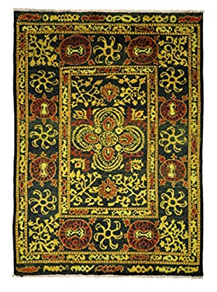 Solo Rugs Modern One-of-a-Kind Rug, Black/Yellow, 6' 6
