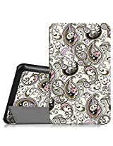 """Fintie Samsung Galaxy Tab E 8.0 Case - Ultra Slim Lightweight Standing Cover for Samsung Galaxy Tab E 8"""" (Sprint / US Cellular) SM-T377 4G LTE 8-Inch Tablet, Paisley Waves"""