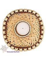 Ghasitaram Gifts - Cane T-Lite with 400 gms Kaju Katli