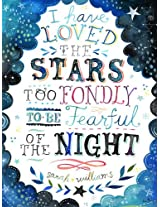 Oopsy Daisy I Have Loved The Stars by Katie Daisy Posters That Stick Wall Decal, 18 by 24-Inch