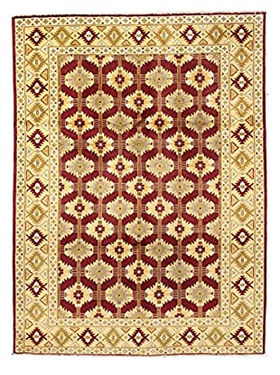 Bashian Rugs Hand Knotted One-of-a-Kind Mansehra Rug, Rust, 5' 2