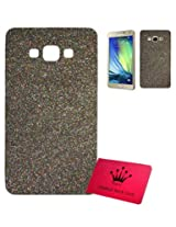 Majesty Sparkle Silicon Back Case Cover for Samsung Galaxy E5 - Black Back, Transparent Edges