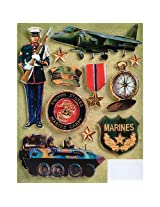 K&Company Patriotic Grand Adhesions marines 11 stickers