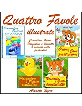 Quattro favole illustrate (Italian Edition)