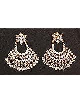 Gioielleria Fashion Swaroski studded in silver Earring