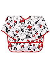 Bumkins Disney Baby Waterproof Sleeved Bib, Minnie Classic, 6-24 Months