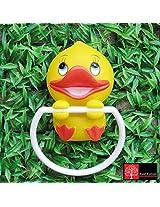 Redforest Cartoon Towel Holder Duck Model,Yellow