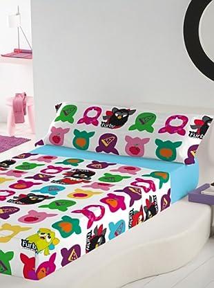Euromoda Juego De Sábanas Furby Doo Doo (Multicolor)