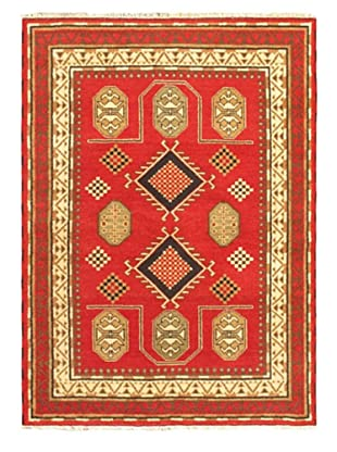 Hand-Knotted Royal Kazak Rug, Red, 5' 9