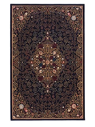 Momeni Art Deco Collection Rug (Black)