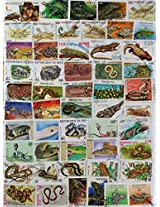 THEME ~ REPTILES / SNAKE~ 35 Different STAMPS ~ ALL LARGE