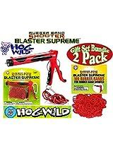 Hog Wild Rubber Band Shooter Blaster Supreme & 100 Rubber Band Refills Gift Set Bundle 2 Pack