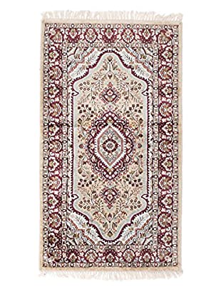 eCarpet Gallery One-of-a-Kind Hand-Knotted Kashmir Rug, Khaki, 2' 11