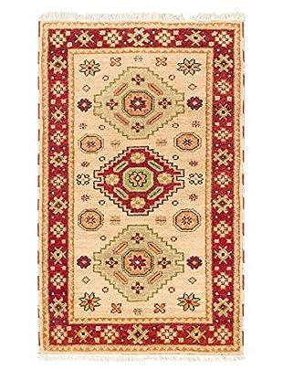 Hand-Knotted Royal Kazak Rug, Ivory, 3' 2
