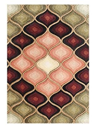 Alliyah Rugs New Zealand Wool Rug (Sand/Red/Pink Multi)
