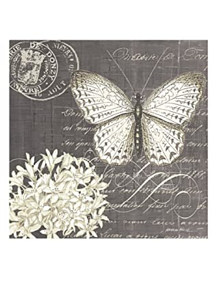 """Kathryn White Butterfly Blossom No. 1 Hand-Embellished Canvas, 20"""" x 20"""""""