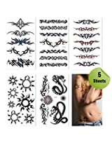 Sexy Tribal Temporary Tattoos Set/5