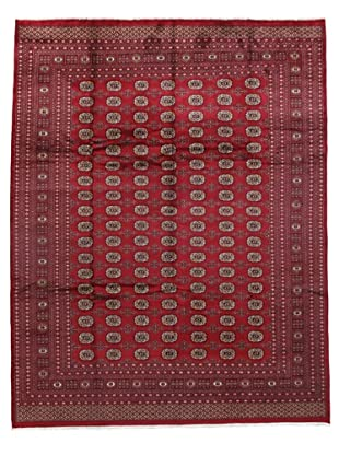 Rug Republic One Of A Kind Bokhara Hand Knotted Rug, Bokhara Red/Multi, 9' 2