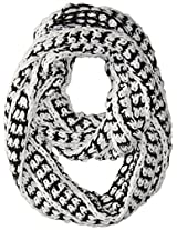 RAMPAGE Women's Ladies High Low Chunky Knit Infinity Scarf