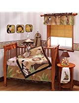 Lambs & Ivy 9 Piece Baby Cocoa Bedding set, Chocolate/Beige (Discontinued by Manufacturer)