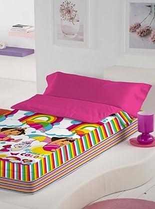 Euromoda Licencias Saco Nórdico Con Relleno Dora Rainbow (Rosa / Fucsia)