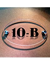 Ovalica - House Number Sign - Transparent - 16cms x 10cm